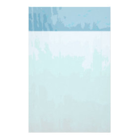 Aqua Blue Green Color Mix Ombre Grunge Design Custom Stationery