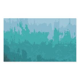 Aqua Blue Green Color Mix Ombre Grunge Design Stickers