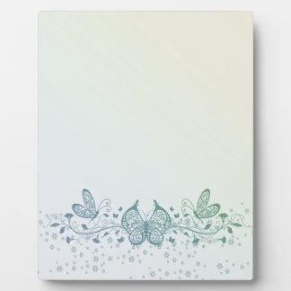 Aqua Blue Green Delicate Butterfly Plaque