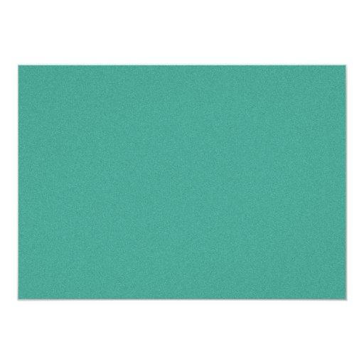 "Aqua/blue-green ""sand grains"" background 5x7 paper invitation card"