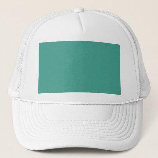 "Aqua/blue-green ""sand grains"" background trucker hat"