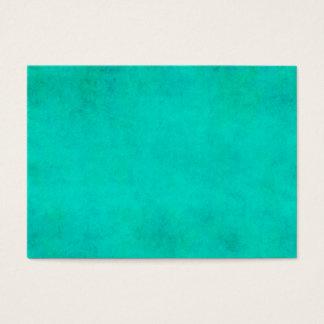 Aqua Blue Green Watercolor Purple Parchment Paper Business Card