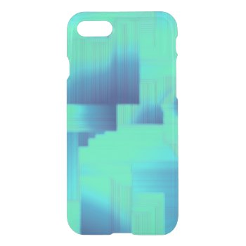 Aqua Blue Halls iPhone 7 Case