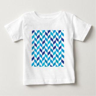 Aqua Blue Herringbone Pattern Baby T-Shirt