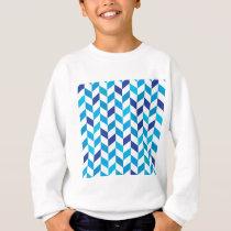 Aqua Blue Herringbone Pattern Sweatshirt