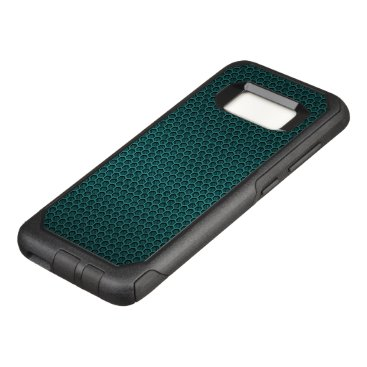 Aztec Themed Aqua Blue Hexagonal Carbon Fiber Honeycomb Mesh OtterBox Commuter Samsung Galaxy S8 Case