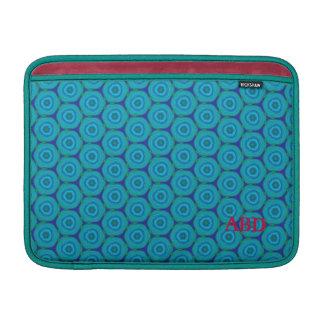 Aqua blue honeycomb pattern MacBook sleeve