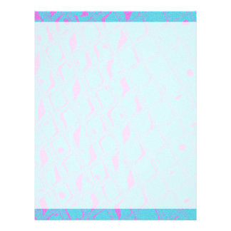Aqua blue hot pink geometric abstract custom letterhead
