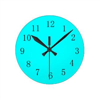 Aqua Blue Kitchen Wall Clock