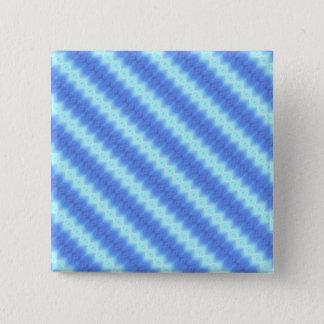 Aqua Blue Knit Crochet Stripe Texture Pattern Pinback Button