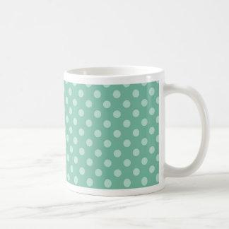 Aqua Blue Little Polka Dots Pattern Print Gifts Coffee Mug