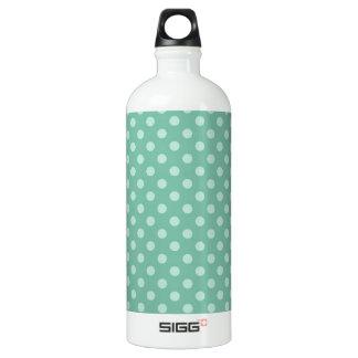 Aqua Blue Little Polka Dots Pattern Print SIGG Traveler 1.0L Water Bottle