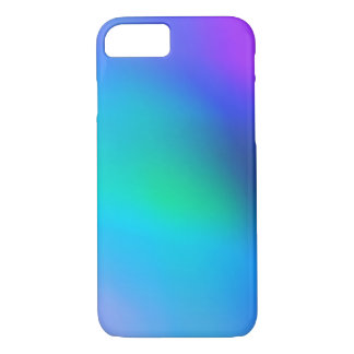 Aqua Blue Mint and Purple Abstract iPhone 7 Case