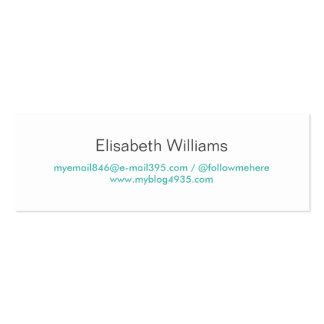 Aqua blue modern generic simple elegant personal business card template