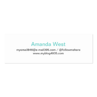 Aqua blue modern generic simple elegant personal business card template