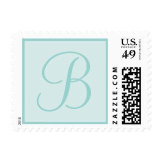 Aqua Blue Monogrammed Custom pos days Stamp