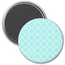 Aqua Blue Moroccan Pattern Magnet