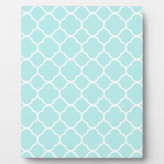 Aqua Blue Moroccan Pattern Plaque