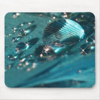 Aqua blue mousemat mouse pad