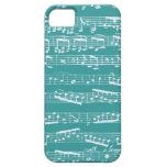 Aqua Blue music notes iPhone 5 Covers