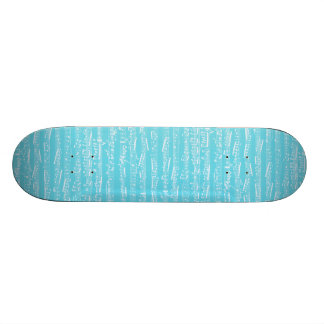 Aqua Blue music notes Skateboard
