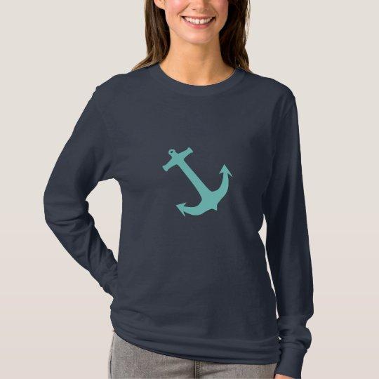 Aqua Blue Nautical Anchor T-Shirt