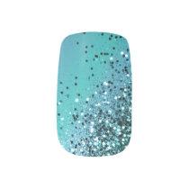 Aqua Blue OCEAN Glitter #1 #shiny Minx Nail Art