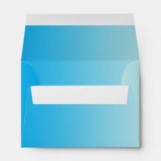 Aqua Blue Ombre A6 Linen Envelope