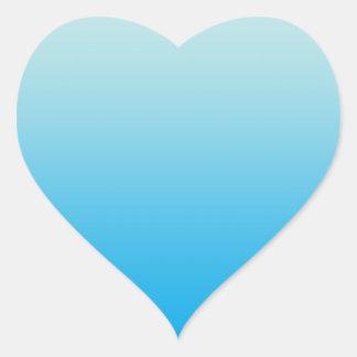 Aqua Blue Ombre Heart Sticker