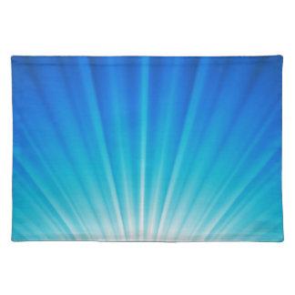 Aqua Blue Ombre Heavenly Light Placemat