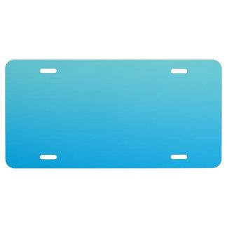 """Aqua Blue Ombre"" License Plate"