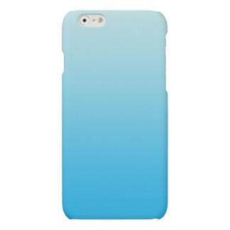 Aqua Blue Ombre Matte iPhone 6 Case