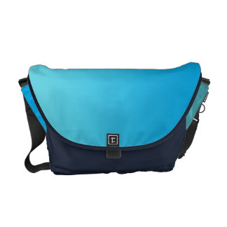 Aqua Blue Ombre Messenger Bag