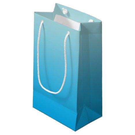 Aqua Blue Ombre Small Gift Bag