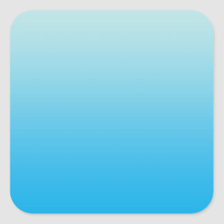 Aqua Blue Ombre Square Sticker