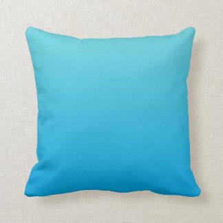 """""""Aqua Blue Ombre"""" Throw Pillow"""