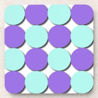 Aqua & Blue Polka Dots corkcoaster