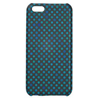 Aqua Blue Polka Dots iPhone 5C Cover