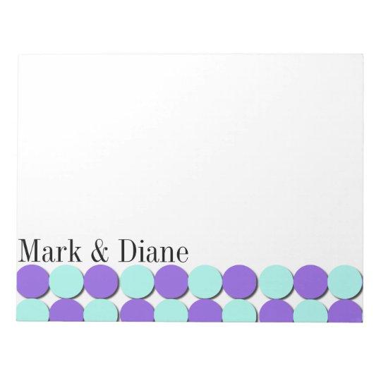 Aqua & Blue Polka Dots Notepad