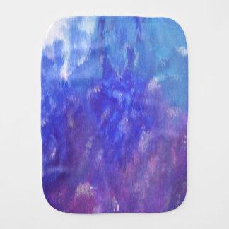 Aqua Blue Purple Abstract Art Burp Cloth