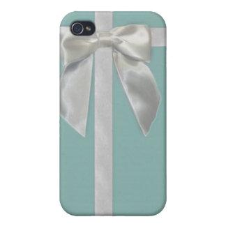 Aqua blue ribbon Iphone4/4s case iPhone 4/4S Case