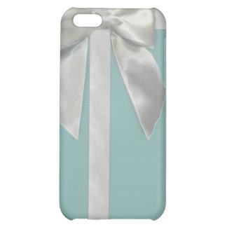 Aqua blue ribbon Iphone4/4s case Case For iPhone 5C