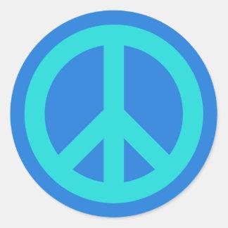 Aqua Blue Round Stickers