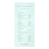 Aqua Blue Salon Spa Price List Service Menu
