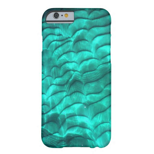 Aqua Blue Sandy Bottom Barely There iPhone 6 Case