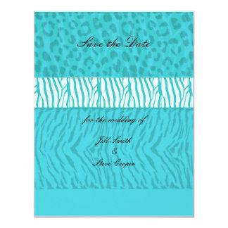Aqua Blue Save the Date Card