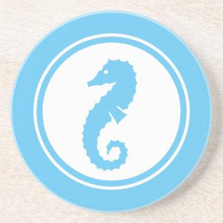 Aqua Blue Seahorse Marine Creature coaster