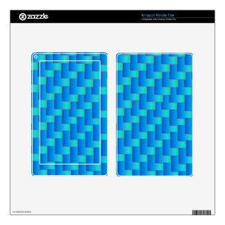 Aqua Blue Shadows Kindle Fire Skins