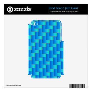Aqua Blue Shadows Skin For iPod Touch 4G