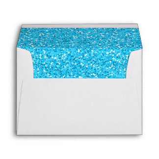Aqua Blue Shimmer Glitter Envelopes